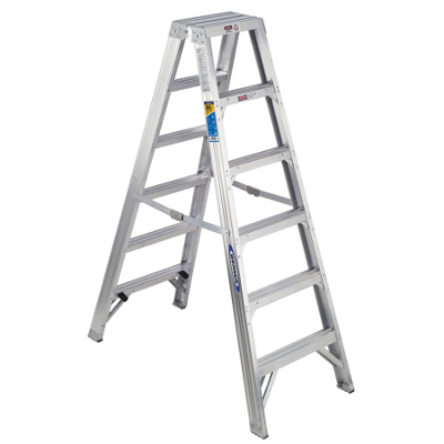 WERNER 406 6' ALUMINUM STEP LADDER TYPE 1A 300LB RATING