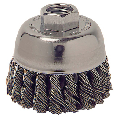 WEILER 13025 2-3/4X5/8 KNOTTED WIRE CUP BRUSH