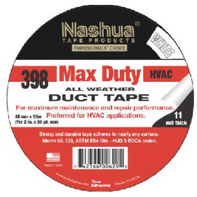 NASHUA 398 2X60 WHITE DUCT TAPE 24/CS