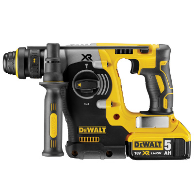 "DEWALT DCH273P2 20V MAX BRUSHLESS 1"" L-SHAPE SDS PLUS HAMMER KIT W/2 5AH BATTERIES & CHARGER * REPLACES DCH253M2"
