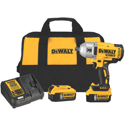 DEWALT DCF899P2 1/2 20V MAX XR BRUSHLESS HIGH TORQUE IMPACT WRENCH KIT WITH DETENT ANVIL 700FT/LBS MAX TORQUE