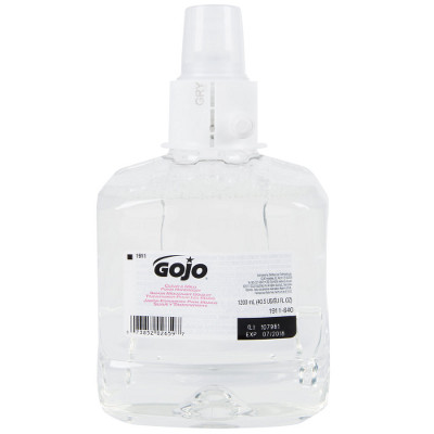 GOJO 1911-02 1200ML CLEAR UNSCENTED FOAM HAND WASH 2/CS 6030956