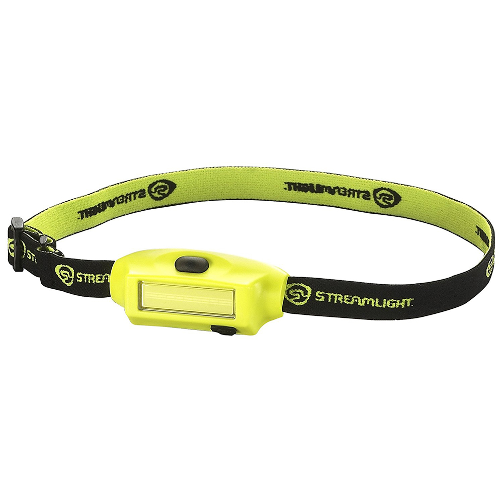STREAMLIGHT 61700 BANDIT LED YELLOW HEADLAMP COMPACT LOW PROFILE RECHARGEABLE WITH HEADSTRAP & USB CORD