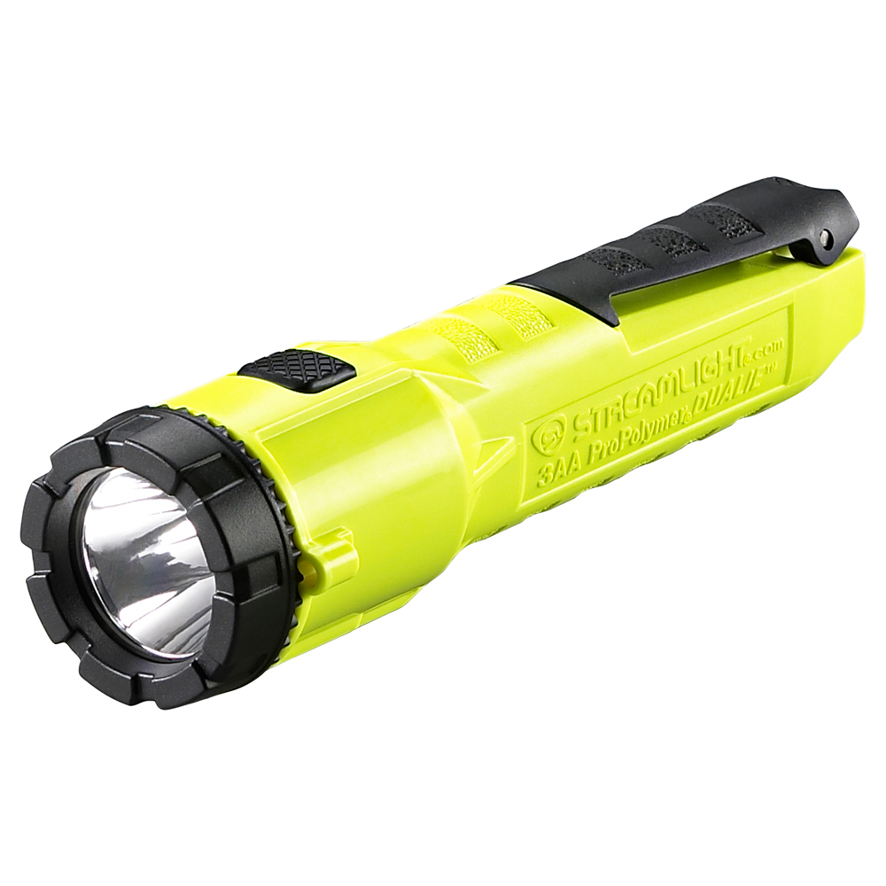 STREAMLIGHT 68750 3AA PROPOLYMER DUALIE LED FLASHLIGHT BATTERIES YELLOW