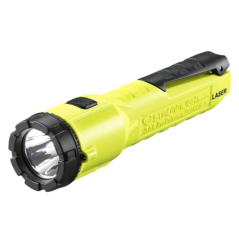 STREAMLIGHT 68760 3AA PROPOLYMER DUALIE LED FLASHLIGHT WITH LASER YELLOW