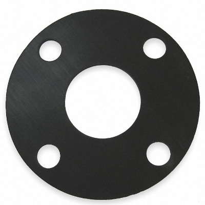 GASKET NEOPRENE 10X6-5/8X1/2 WITH FOUR BOLT HOLES 3/4