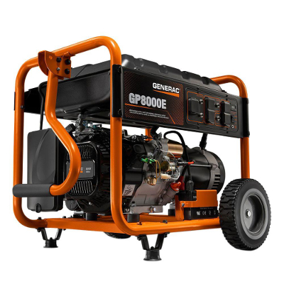 GENERAC 7686 GP8000E 8000 WATT GAS POWERED ELECTRIC START PORTABLE GENERATOR REPLACES 6954