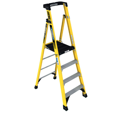 WERNER PD7304 4' FIBERGLASS PODIUM LADDER TYPE IAA