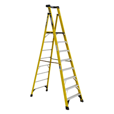 WERNER PD7308 8' FIBERGLASS PODIUM LADDER TYPE 1AA