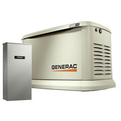 GENERAC 7043 NEW 22KW GENERATOR WITH BLUE TOOTH TECHNOLOGY AND 200AMP TRANSFER SWITCH