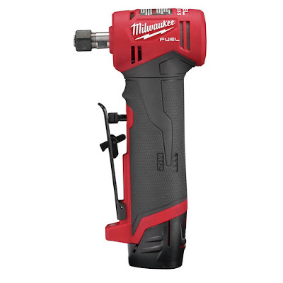 MILWAUKEE 2485-22 M12 FUEL RIGHT ANGLE DIE GRINDER W/2 BATTERIES AND CHARGER KIT
