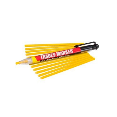 MARKAL 96131 TRADES-MARKER ALL-SURFACE MARKER STARTER PACK, YELLOW